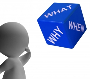 Imatge What why when dice representin qüestions and choices de Stuart Miles per a freedigitalphotos.net